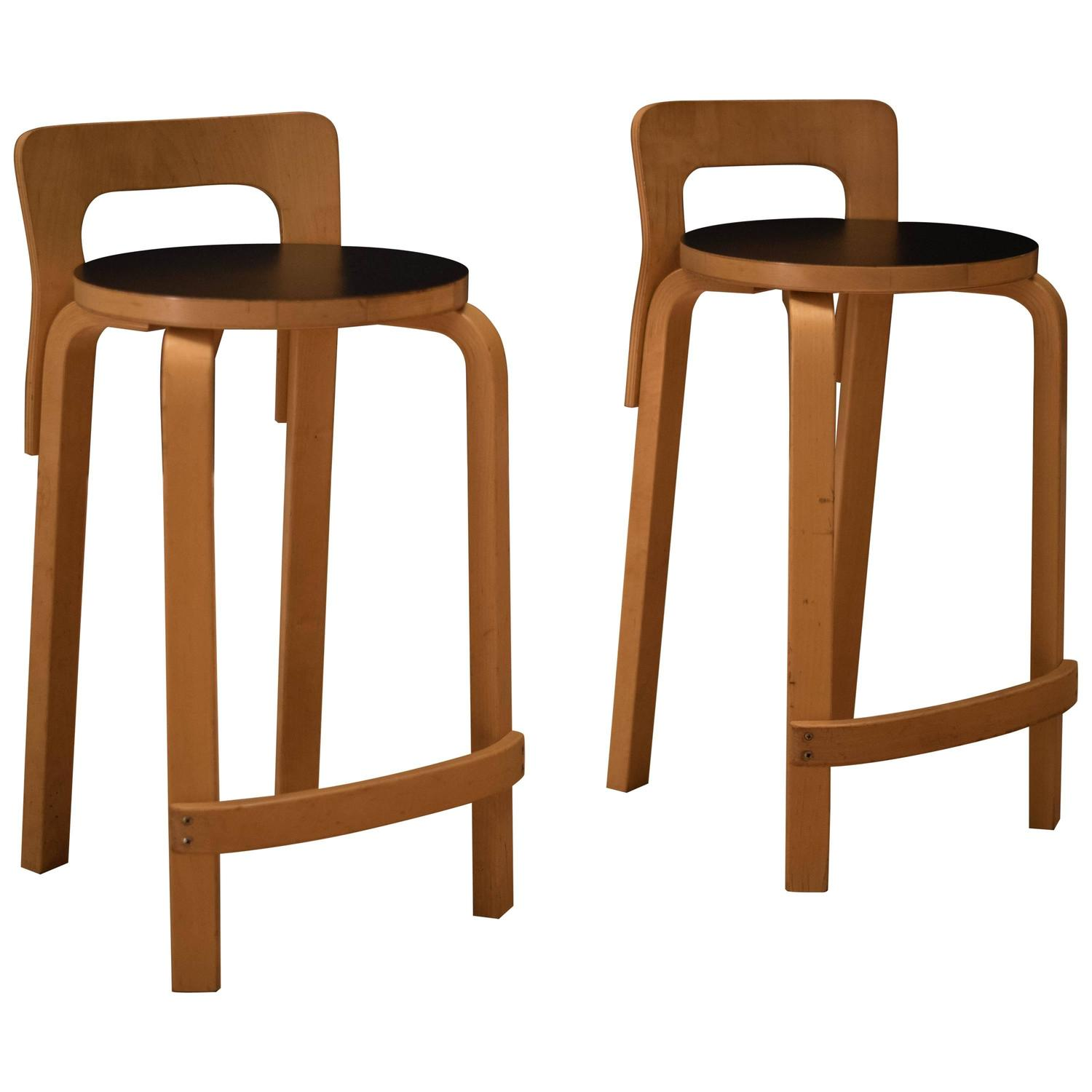 Vintage Alvar Aalto K65 High Chair Stool For Sale At 1stdibs
