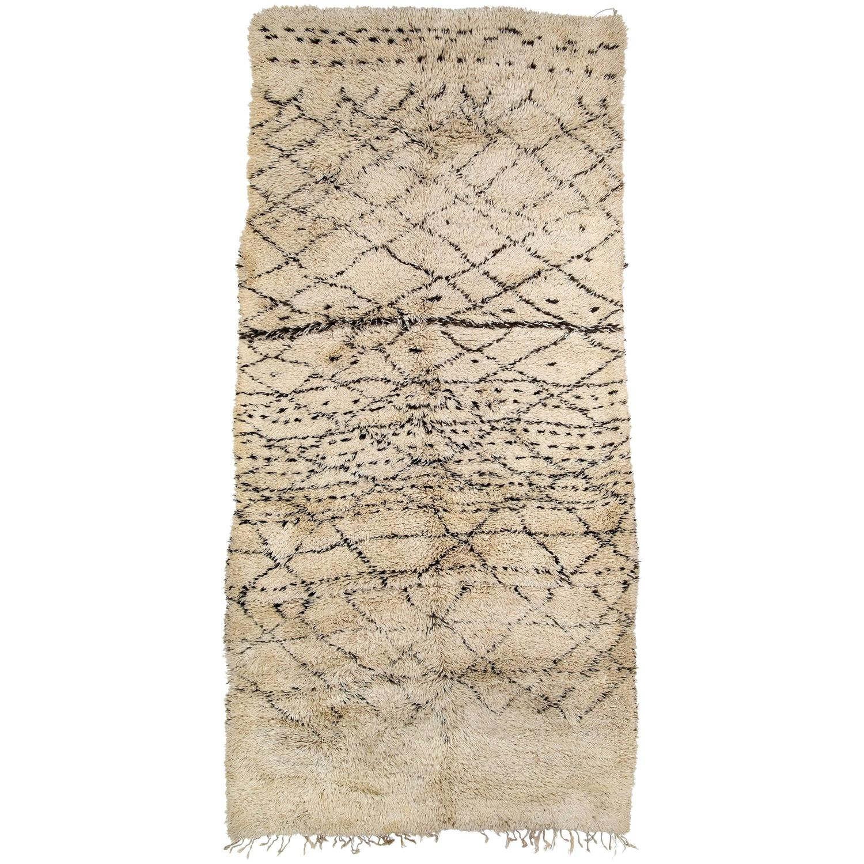 Vintage Moroccan Area Rug For Sale At 1stdibs: Vintage Beni Ouarain Moroccan Rug For Sale At 1stdibs