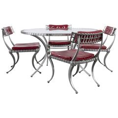 Vintage Mid-Century Klismos Dining Set by Thinline