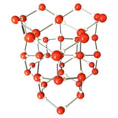 Vintage Ball and Stick Molecular Model of Ice