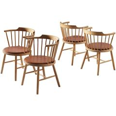 Børge Mogensen Set of Four Dining Chairs