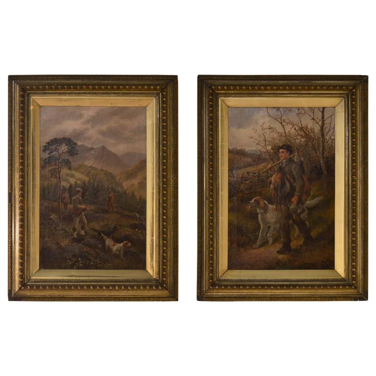 Late 19th Century Pair of Hunt Paintings