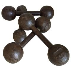 Vintage Barbell Hand Weights