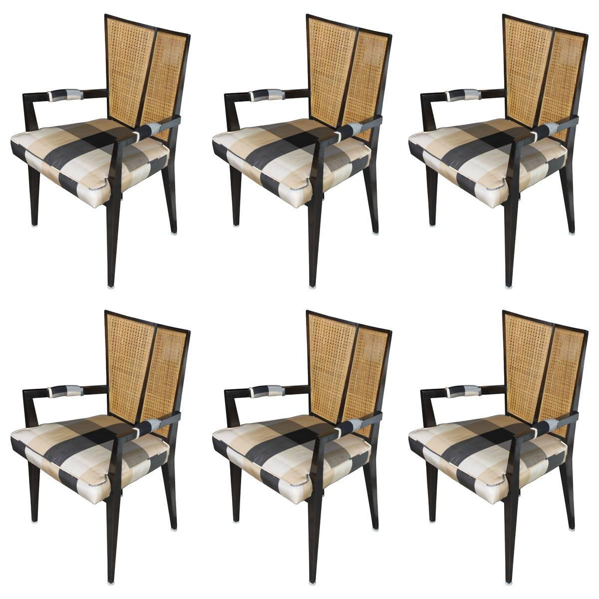 Set Of Six Dining Chairs By Michael Taylor For Baker At