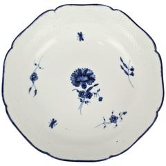 18th Century Chantilly Soft Paste Blue and White Porcelain Bowl