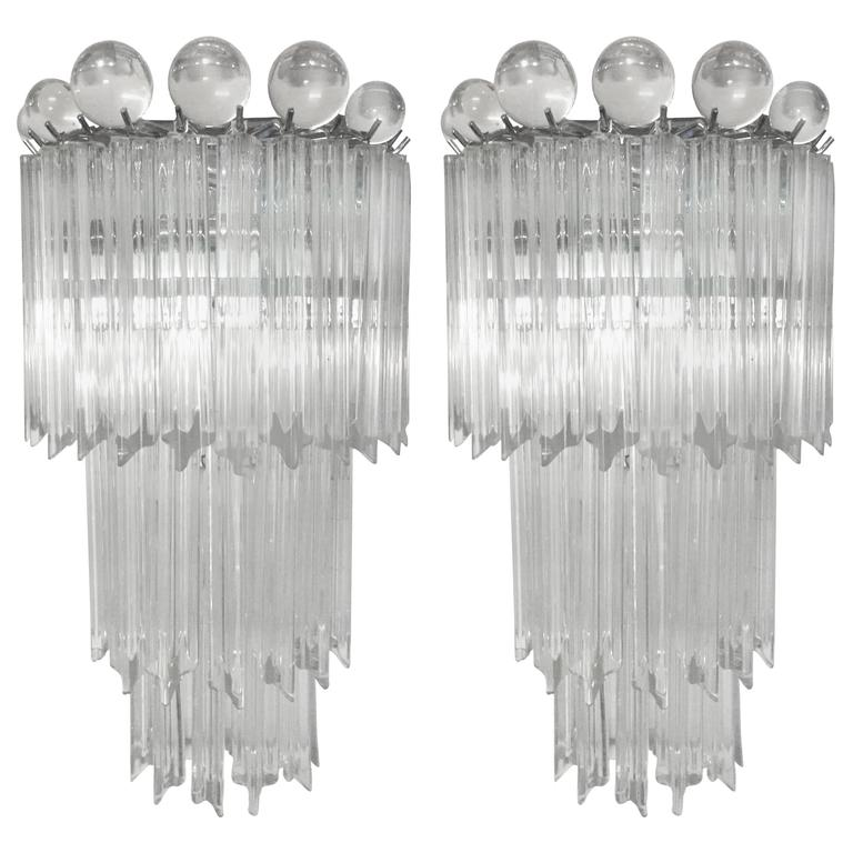 Pair of Venini for Camer Tiered Sconces 1