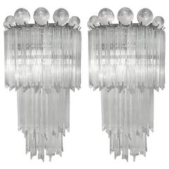 Pair of Venini for Camer Tiered Sconces