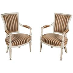 Pair of 19th Century French Painted Armchairs