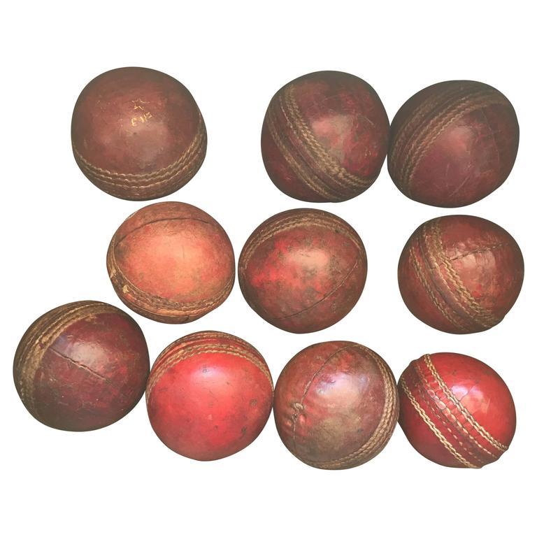 c174e102ad7 Set of Vintage Leather Cricket Balls For Sale at 1stdibs