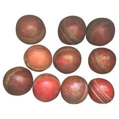 Set of Vintage Leather Cricket Balls