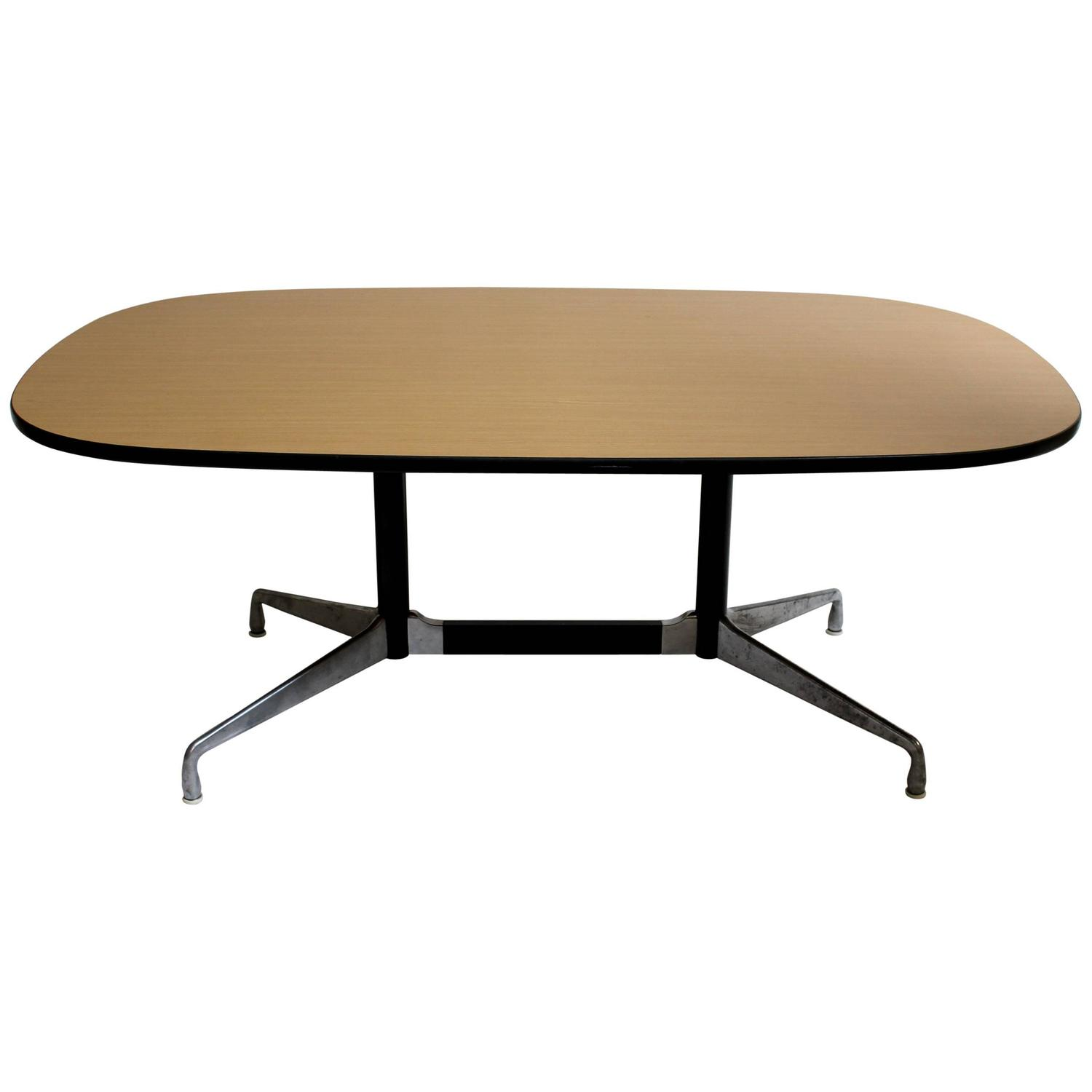ray and charles eames for herman miller modern dining conference table at 1stdibs. Black Bedroom Furniture Sets. Home Design Ideas