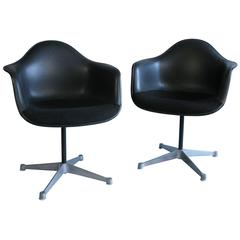Pair of 1960s Charles Eames for Herman Miller Swivel Chairs