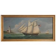 Schooner Nantucket Marine Oil Painting