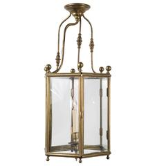 Antique Brass Hanging Lantern from 19th Century France