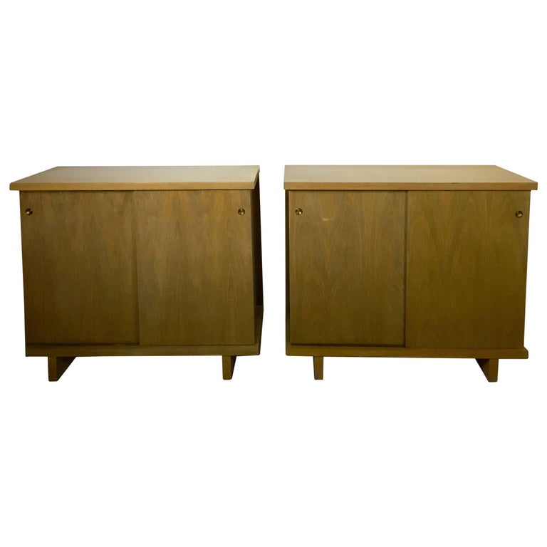 Large Pair of Matching Chests in Bleached Walnut For Sale