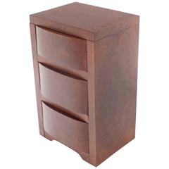 Three-Drawer Art Deco End Table or Nightstand