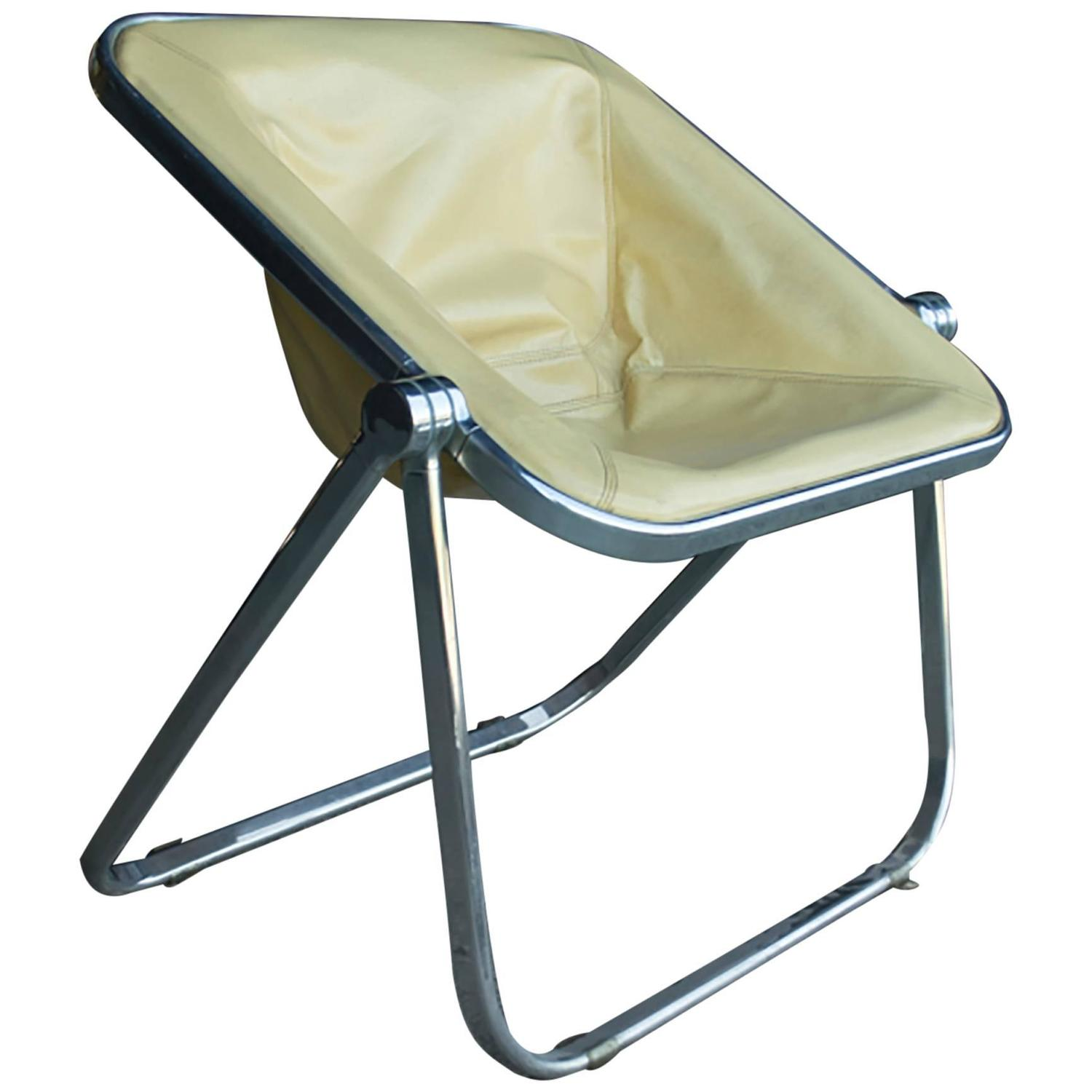 Leather Plona Folding Chair For Sale at 1stdibs