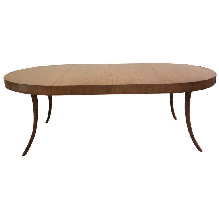 TH Robsjohn Gibbings For John Widdicomb Klismos Leg Extension Dining Table Sale