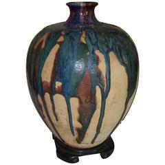 Large Chinese Folk Pottery Storage Jar