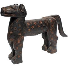 Carved  Leopard Sculpture