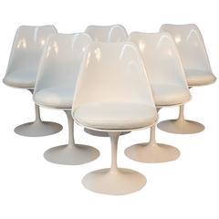 Set of Six Eero Saarinen Tulip Dining Chairs
