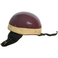 Vintage Burgundy Riding Hat
