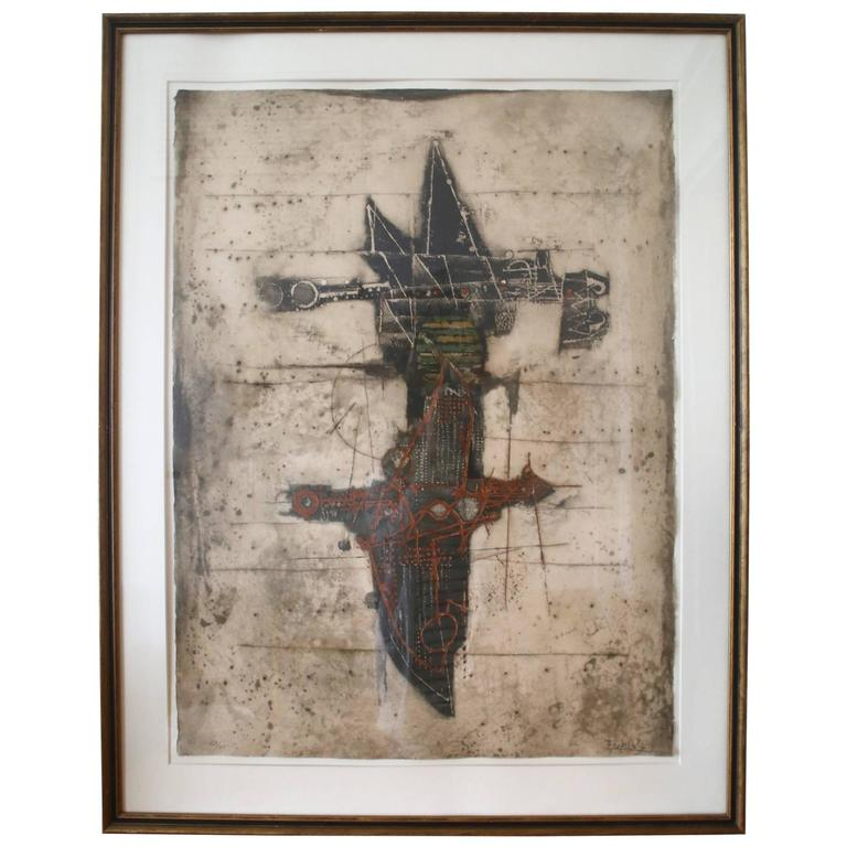 Johnny Friedlaender Mid-Century Modernist Abstract Etching