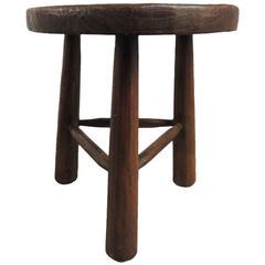 Vintage Wood Tripod Three-Legged Stool