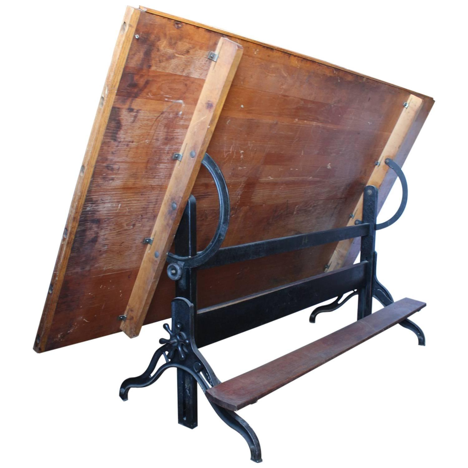 Antique American Drafting Table For Sale At 1stdibs