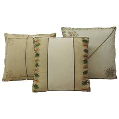 19th Century Turkish Embroidered Pillows