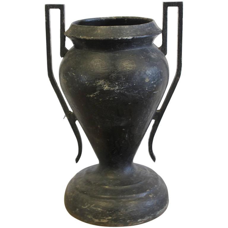 Art Deco American Cast Iron Urn