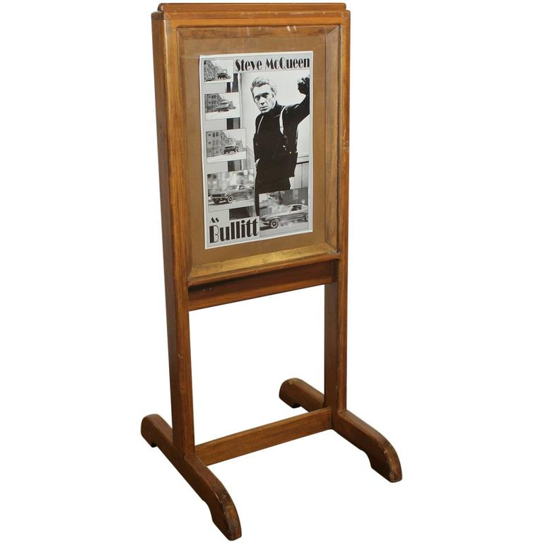 1960s Free Standing Theater Wooden Marquee For Sale at 1stdibs