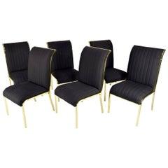 Design Institute of America 'DIA' Dining Chairs in Brass Finish