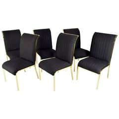 Design Institute of America 'DIA' Dining Chairs in Brass Finish
