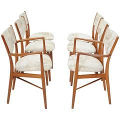 Set of Six Finn Juhl Chairs for Bovirke
