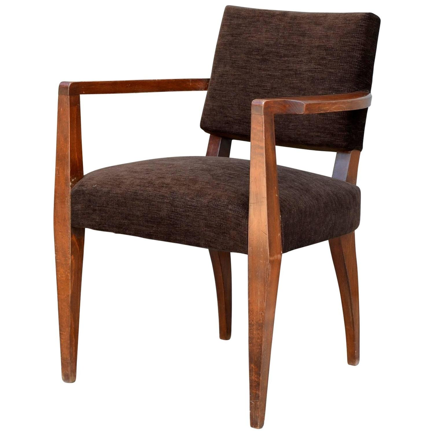 Chic French Art Deco Single Bridge Armchair For Sale at ...