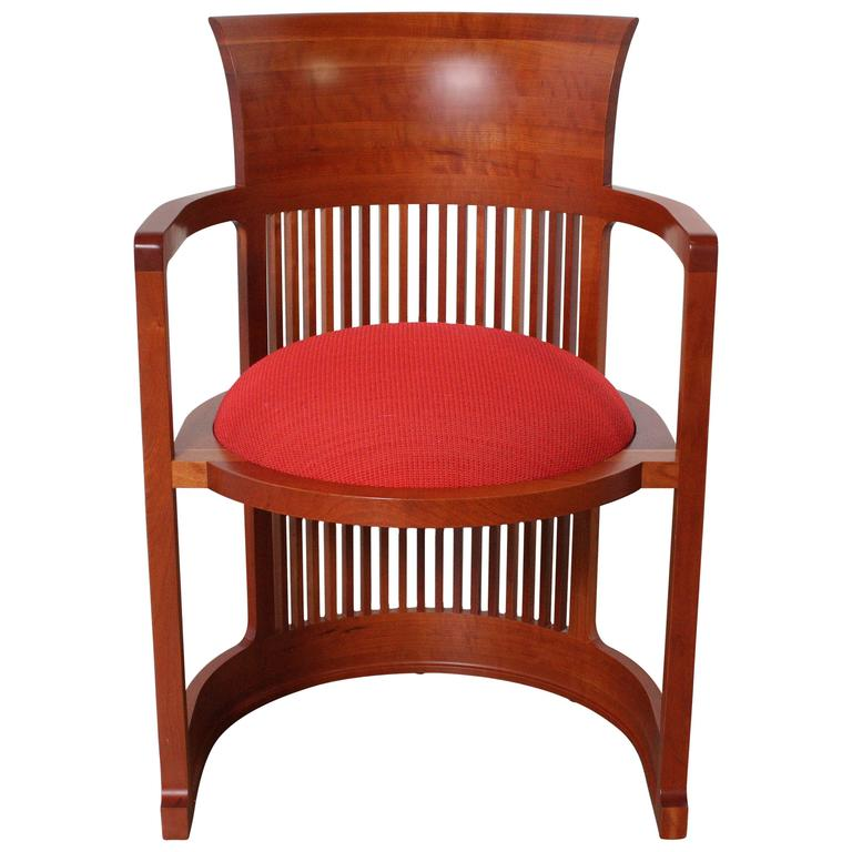 Frank Lloyd Wright Barrel Chair From Cassina At 1stdibs