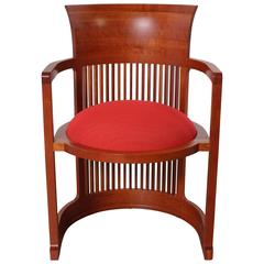Frank Lloyd Wright Barrel Chair from Cassina