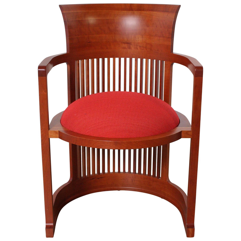 Frank Lloyd Wright Barrel Chair from Cassina at 1stdibs