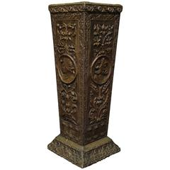 Neoclassical Style Repousee Cane or Umbrella Stand
