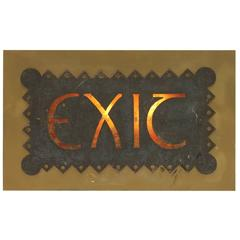 Antique American Light Up Theater Exit Sign