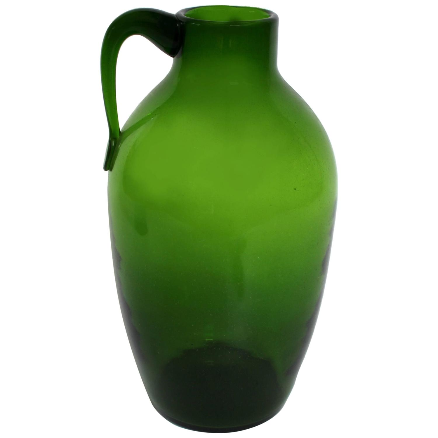 Large Blenko Blown Glass Jug At 1stdibs