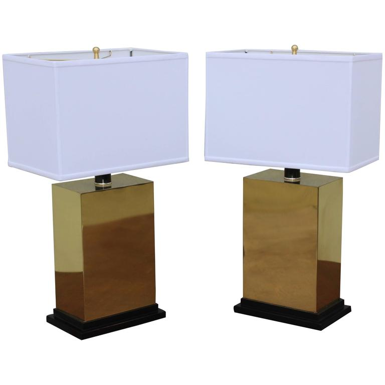 1970s Modern Brass Table Lamps For Sale