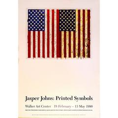 Original Jasper Johns Exhibit Poster by Jasper Johns, 1973