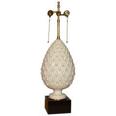 Italian Glazed Terracotta Pineapple Lamp