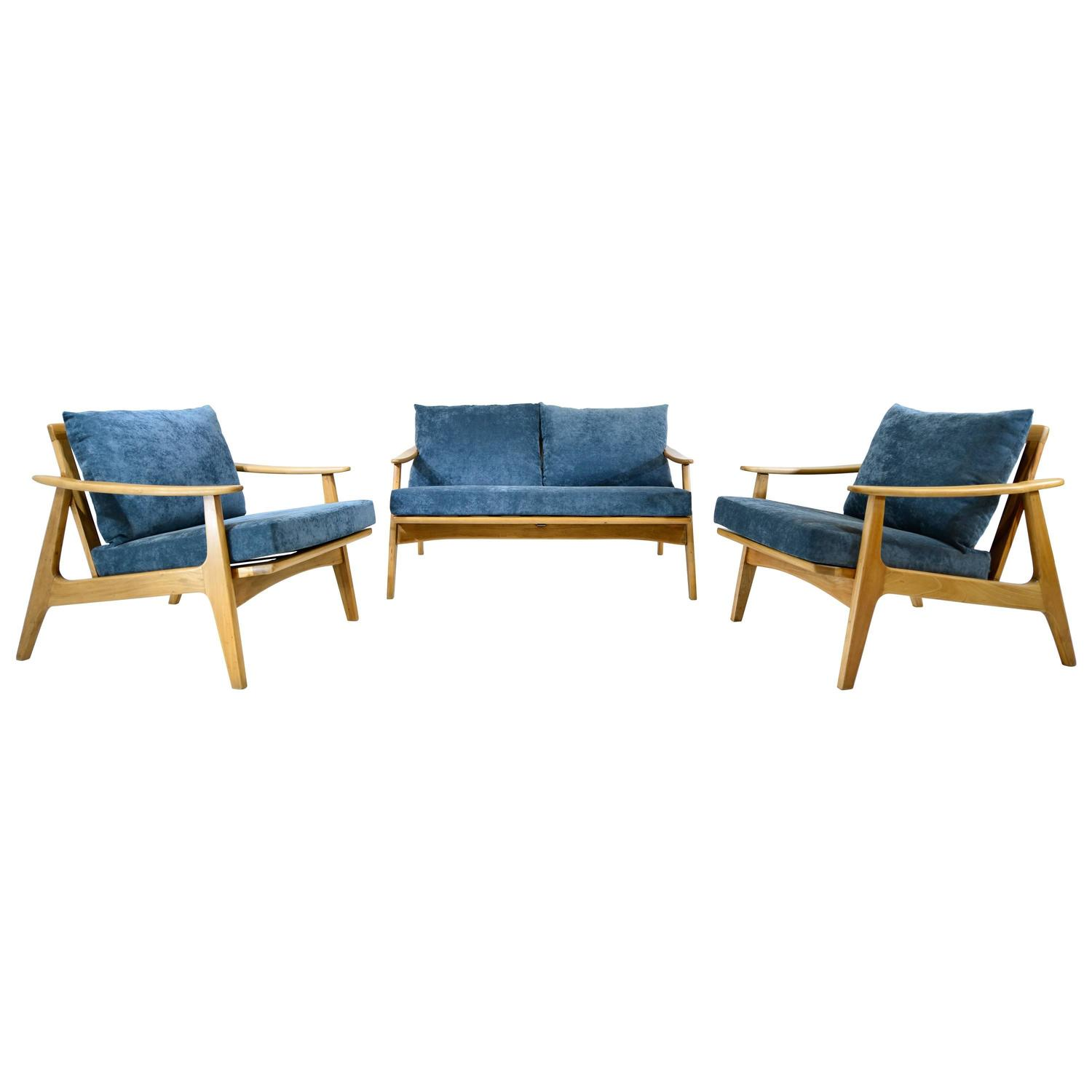Three piece living room set for sale at 1stdibs for 10 piece living room set