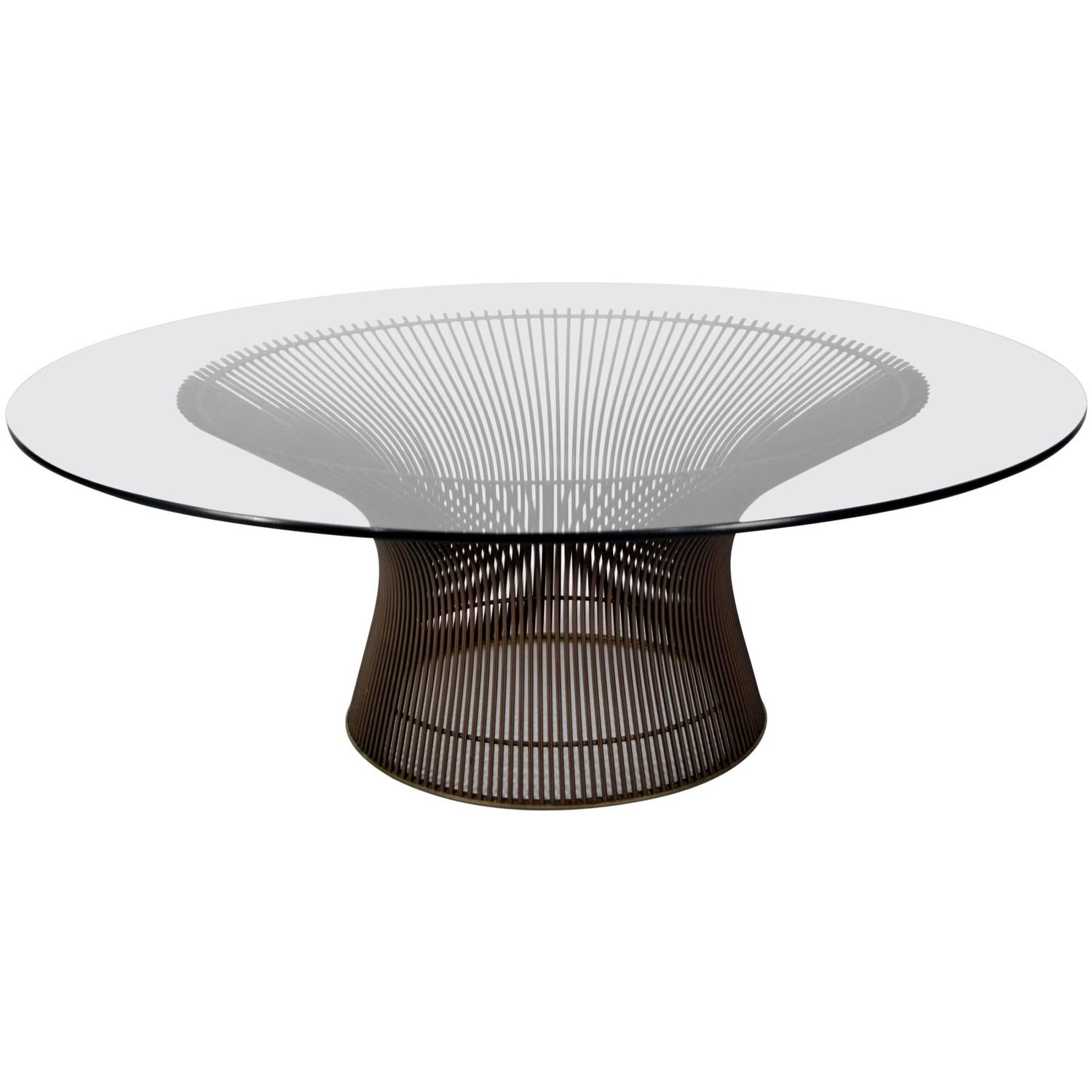 Warren platner bronze finish coffee table at 1stdibs for Warren platner coffee table