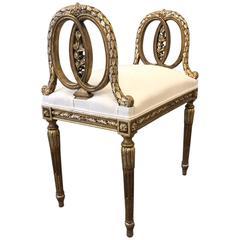 Louis XIV Style Giltwood Bench