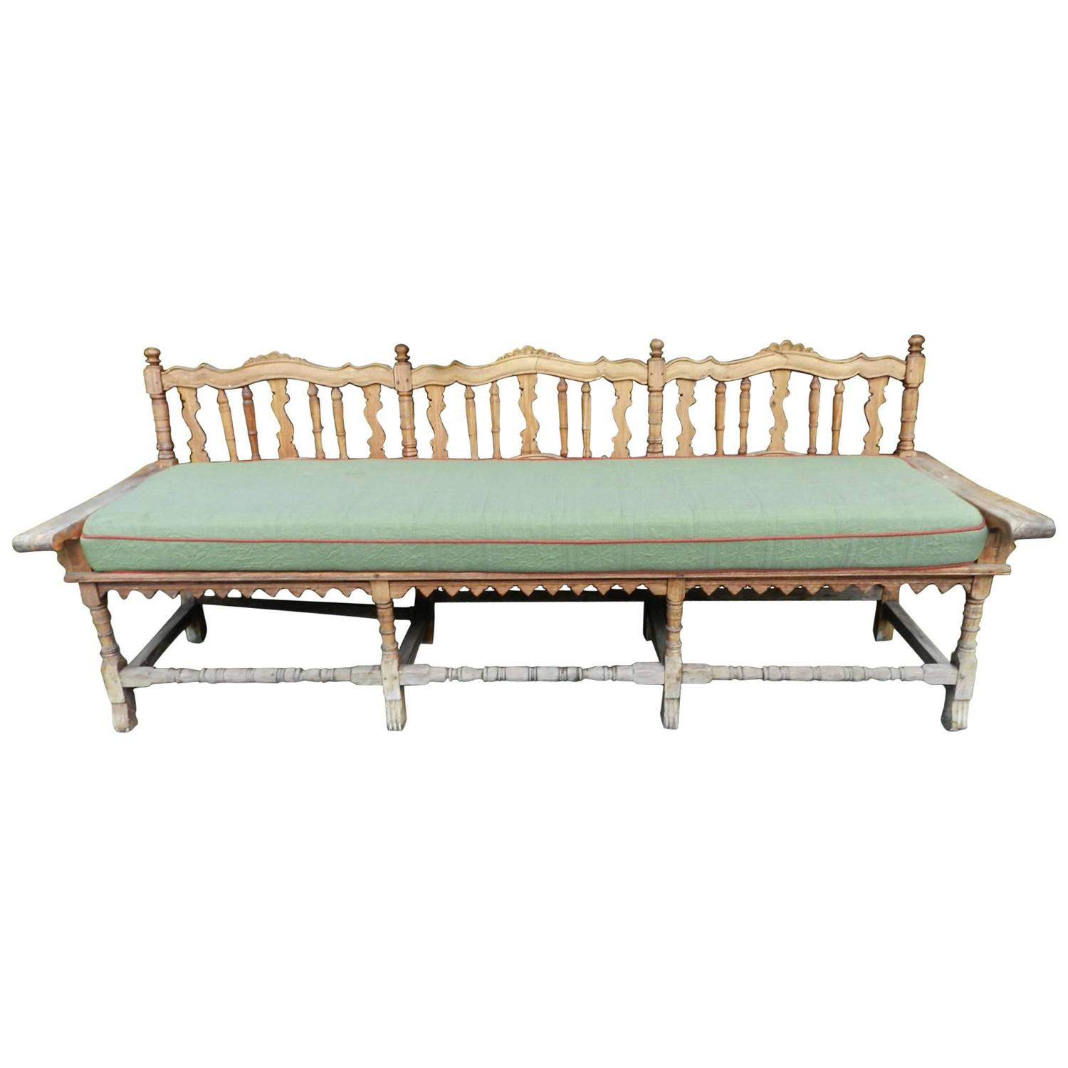 Antique 19th Century Sabino Wood Or Pine Mexican Bench At 1stdibs