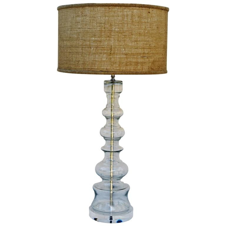 clear glass lamp of large scale for sale at 1stdibs. Black Bedroom Furniture Sets. Home Design Ideas